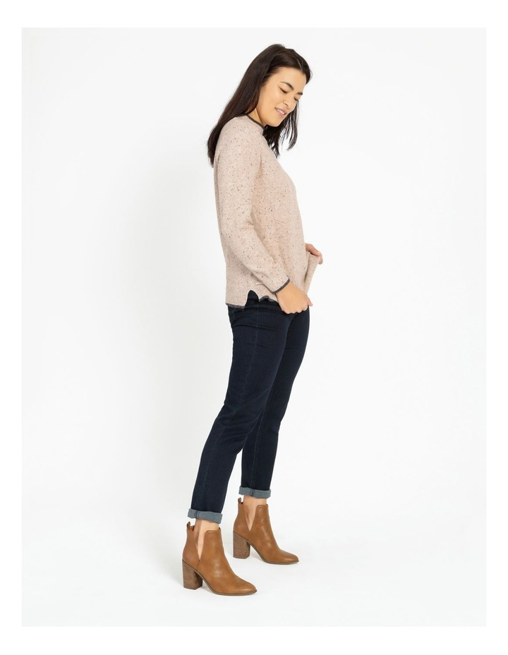 Pillar & Pine Stand Neck Jumper With Contrast Tipping image 4