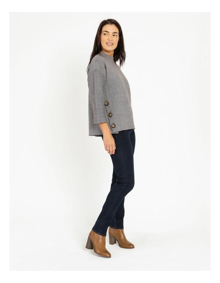 Pillar & Pine Button Side Stand Collar Long Sleeve Jumper image 2