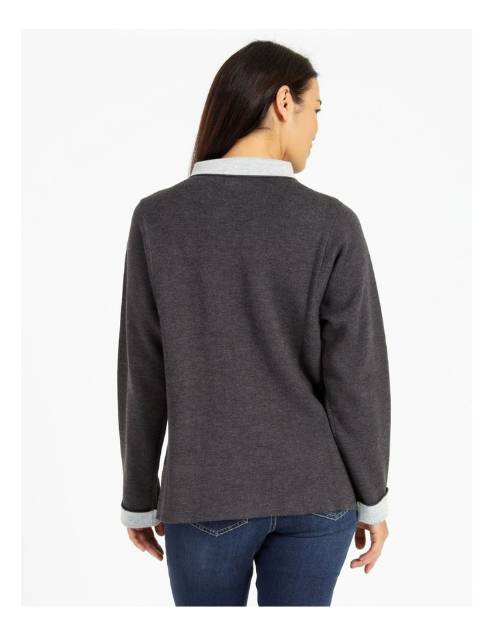 Fold Neck Double Knit Jumper With Square Armholes image 3