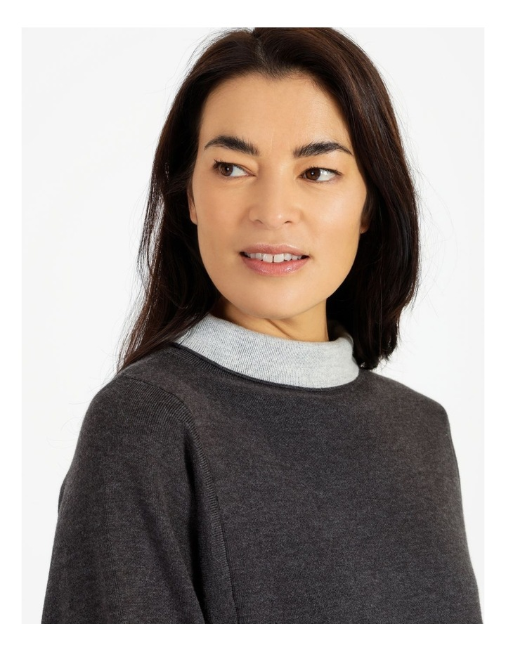 Fold Neck Double Knit Jumper With Square Armholes image 4