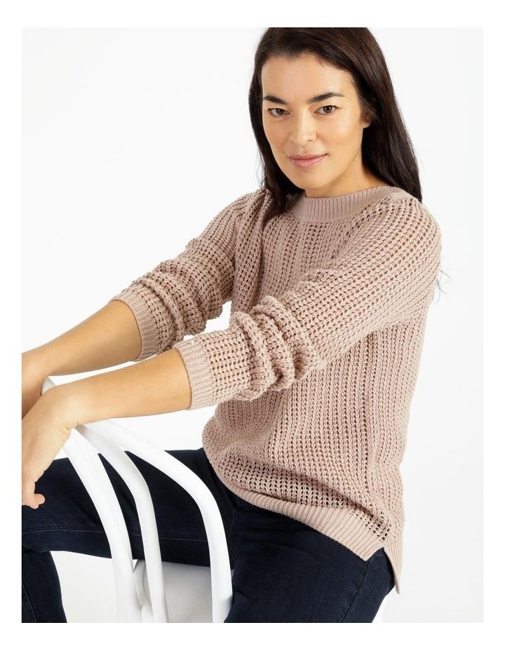 Boat Neck Fancy Knit Jumper With Lurex image 5