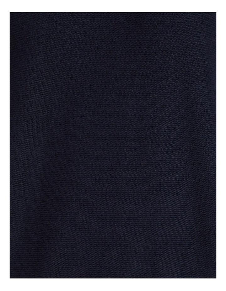 Cuff Crew Neck Short Sleeve Jumper Navy image 7