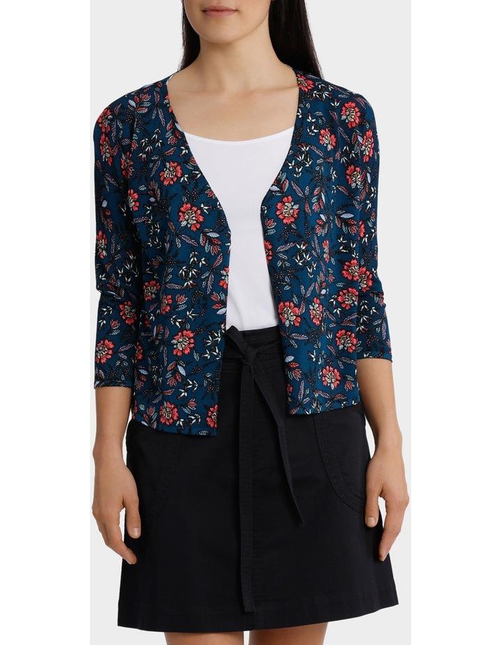 Folk Floral Drape  Sleeve Cardigan image 1