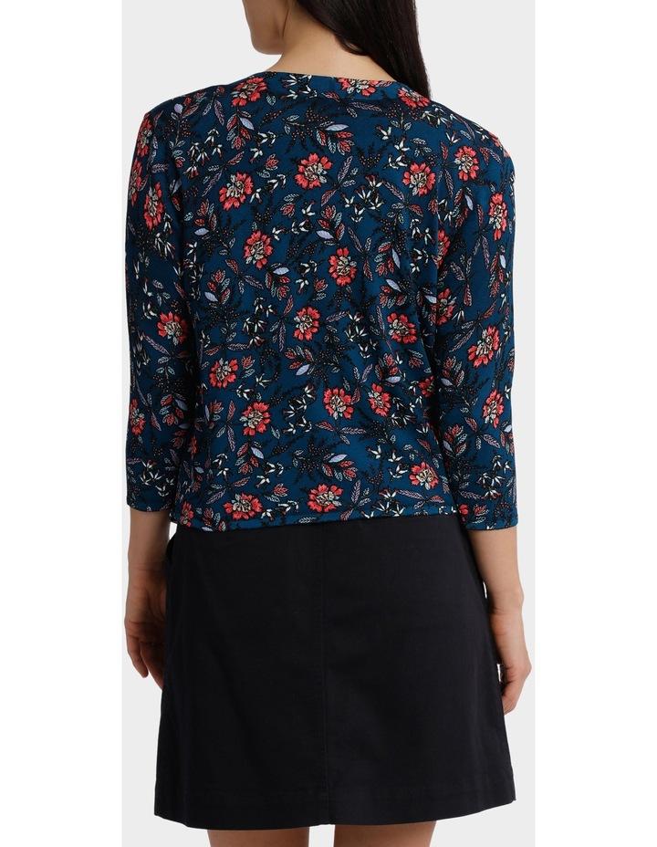 Folk Floral Drape  Sleeve Cardigan image 3
