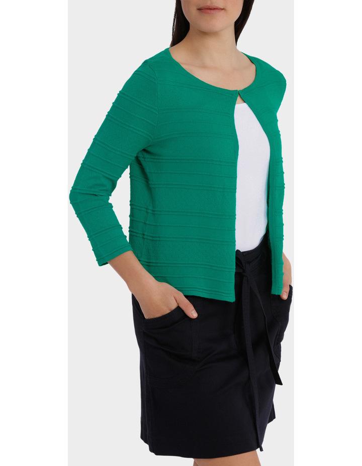 Pointelle Stripe  Sleeve Cardigan image 2