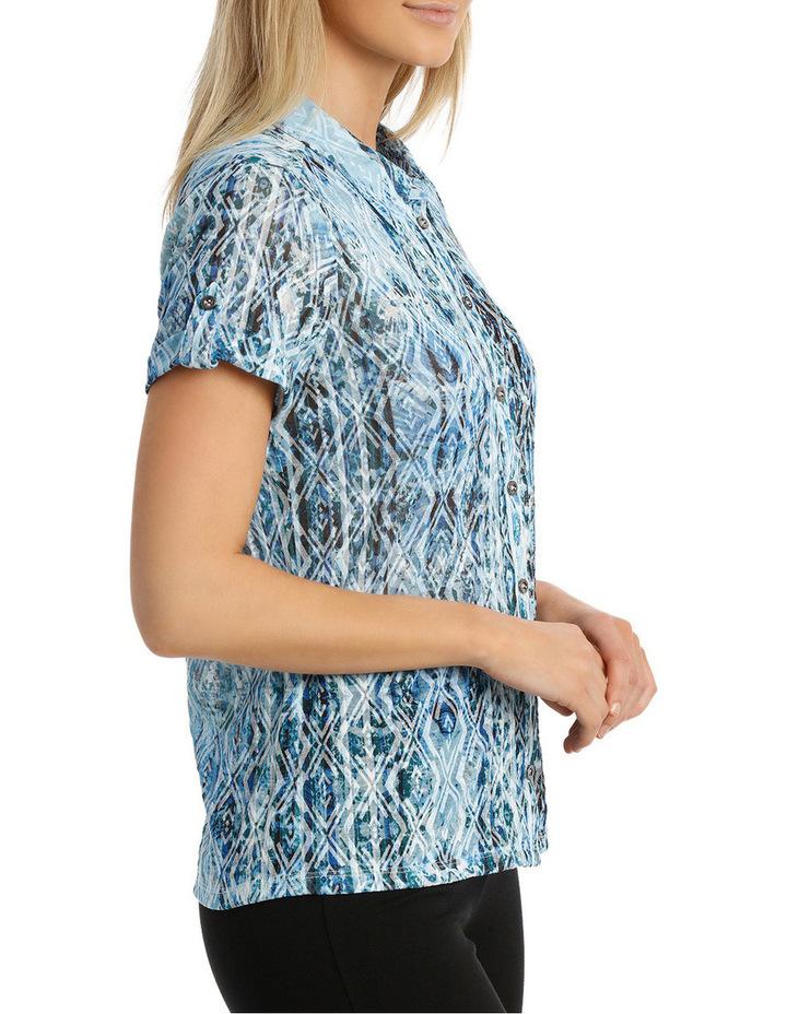 Mottled Oceanic Burnout Collar Short Sleeve Tee image 2