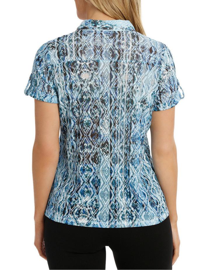 Mottled Oceanic Burnout Collar Short Sleeve Tee image 3