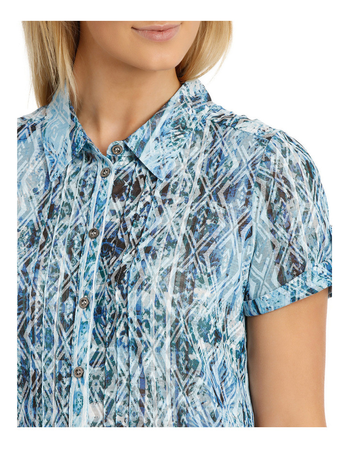 Mottled Oceanic Burnout Collar Short Sleeve Tee image 4