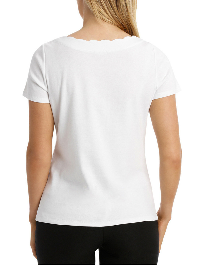 Solid Scallop Short Sleeve Tee image 3
