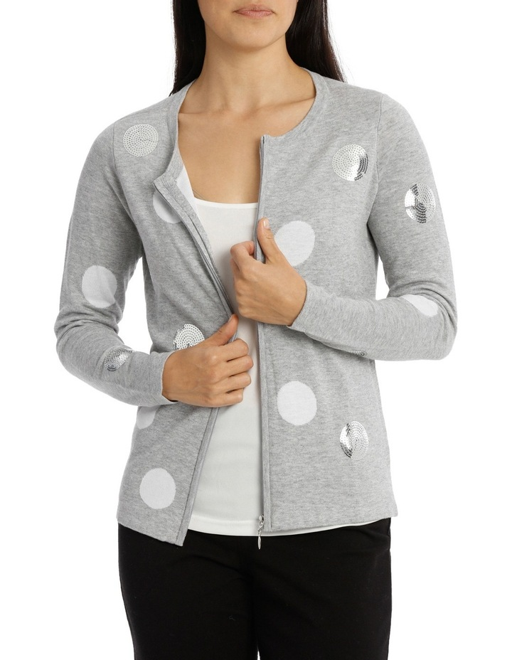Scattered Sequin Spot Cardigan image 1
