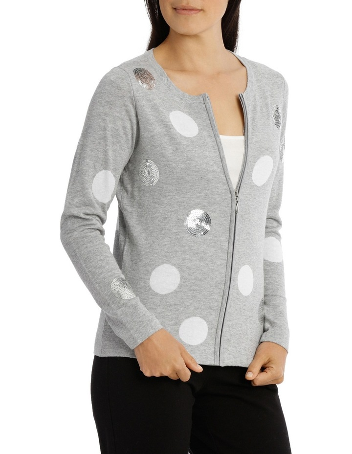 Scattered Sequin Spot Cardigan image 2