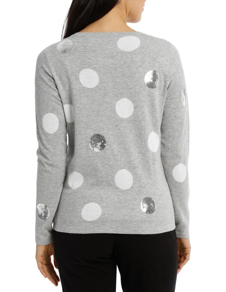 Scattered Sequin Spot Cardigan image 3