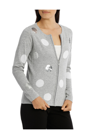 Regatta - Scattered Sequin Spot Cardigan