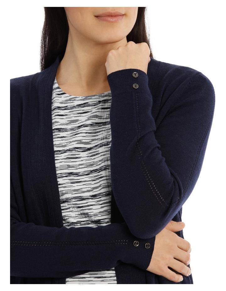 Long Sleeve Pointelle Seam Detail Cardigan image 4