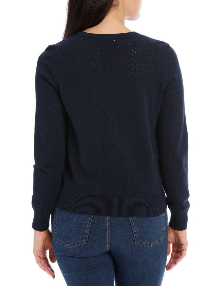 Mesh Knit Long Sleeve Cardigan image 3