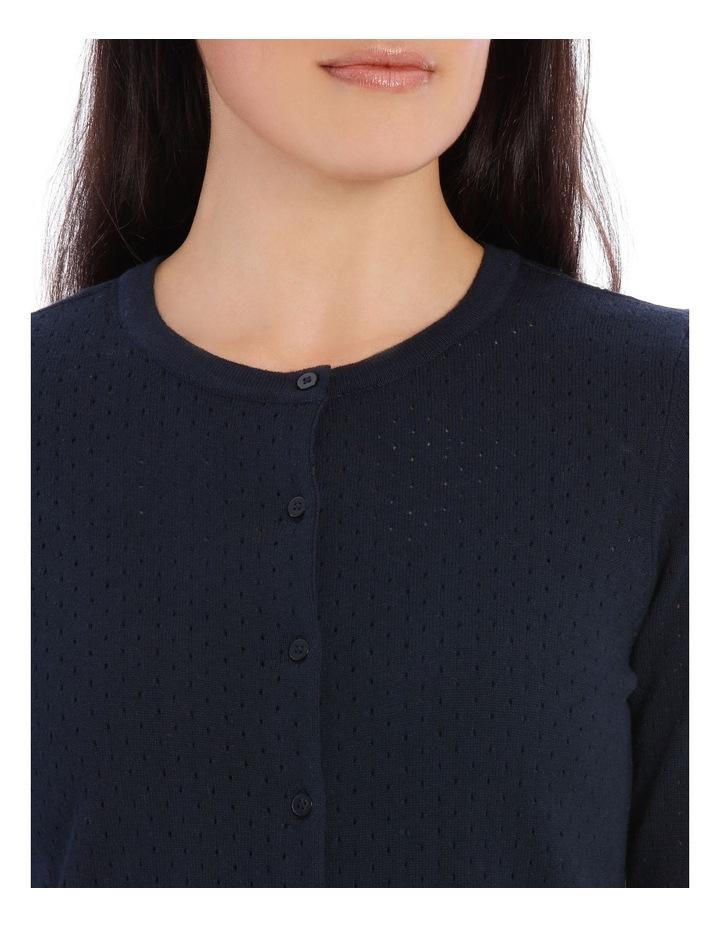 Mesh Knit Long Sleeve Cardigan image 4