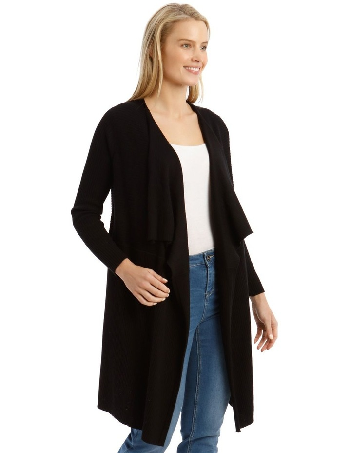 Ribbed Waterfall Front Cardigan image 2