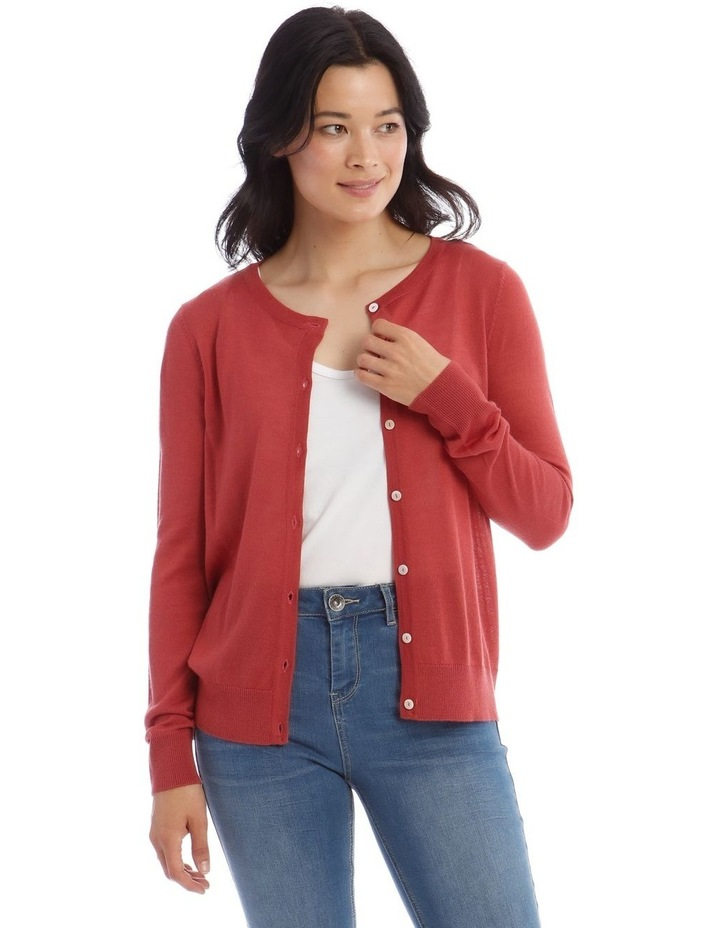 Button Front Short Cardigan image 1