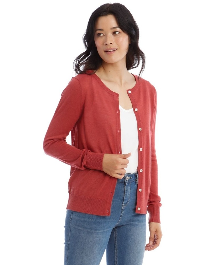 Button Front Short Cardigan image 2