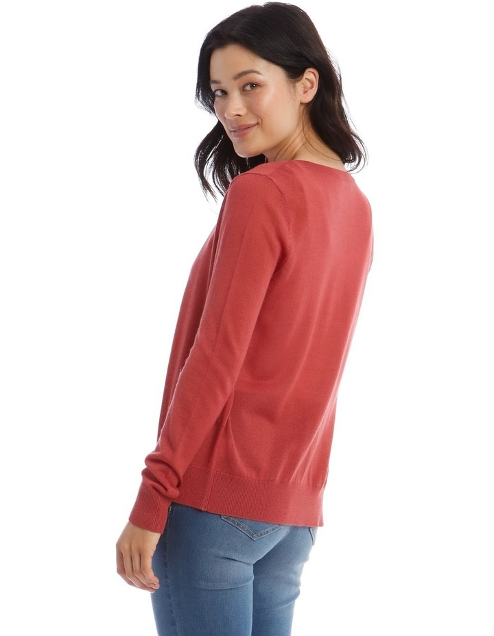Button Front Short Cardigan image 3