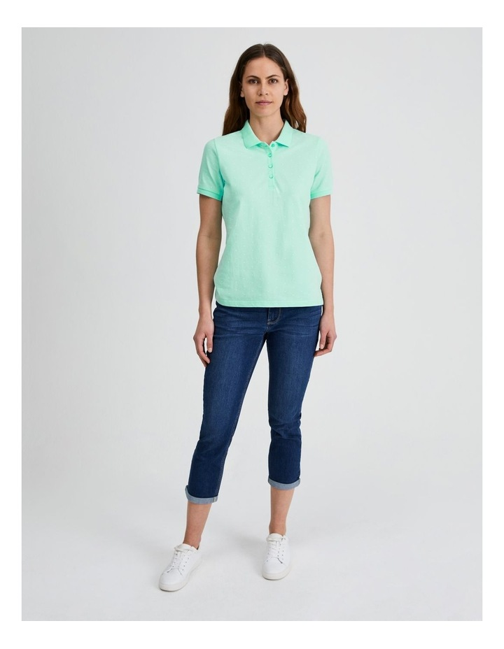Short Sleeve Polo Tee in Mint image 1
