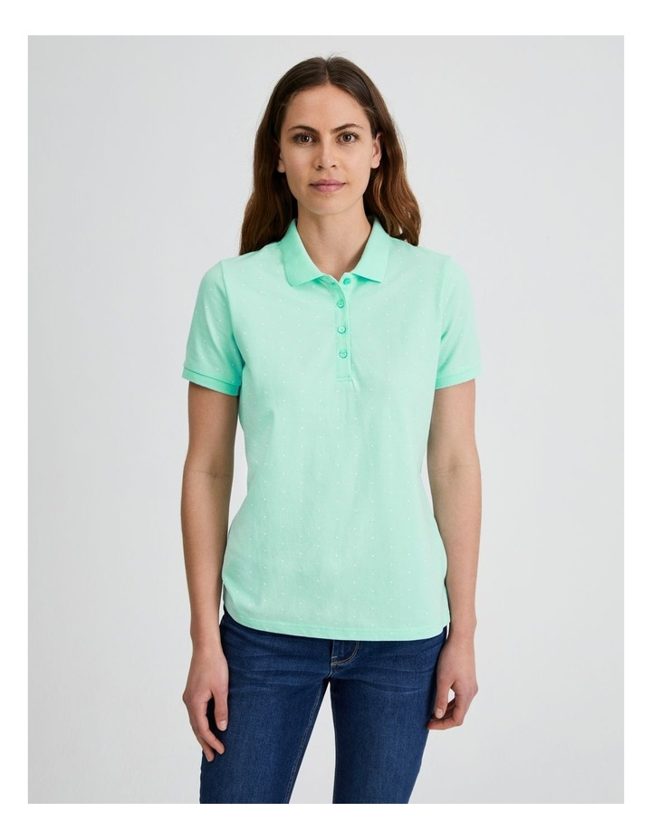 Short Sleeve Polo Tee in Mint image 2