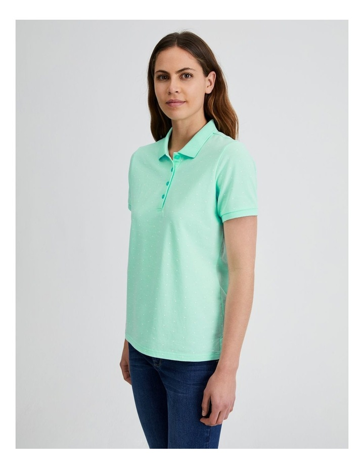 Short Sleeve Polo Tee in Mint image 3