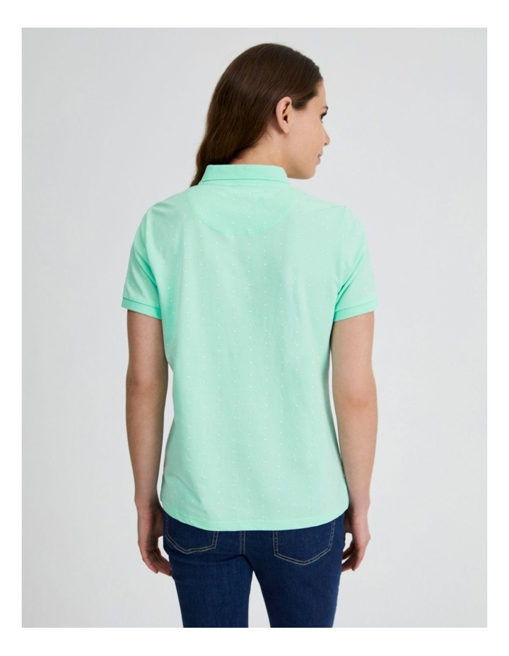 Short Sleeve Polo Tee in Mint image 4