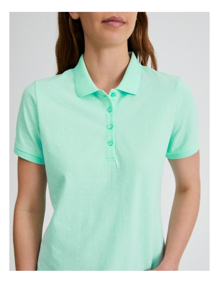 Short Sleeve Polo Tee in Mint image 5
