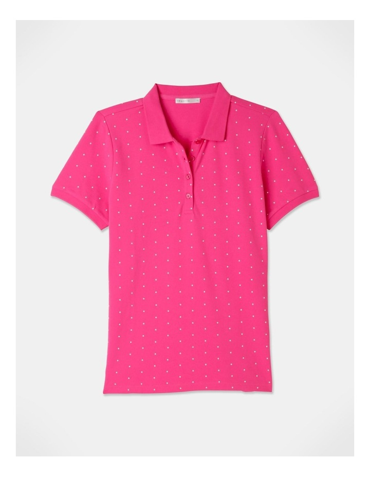 Core Short Sleeve Polo Hot Pink/White Spot image 1