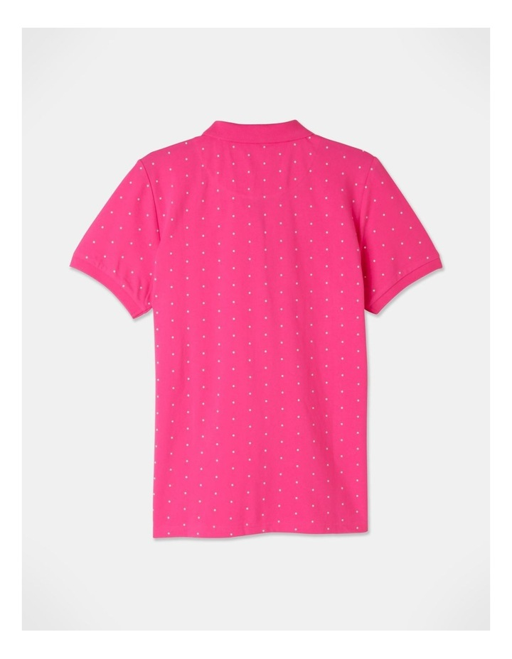 Core Short Sleeve Polo Hot Pink/White Spot image 3