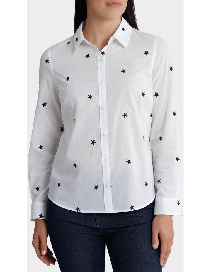 Starry Night Embellished 3/4 Sleeve Shirt image 1