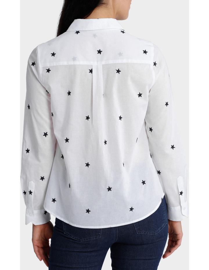 Starry Night Embellished 3/4 Sleeve Shirt image 3