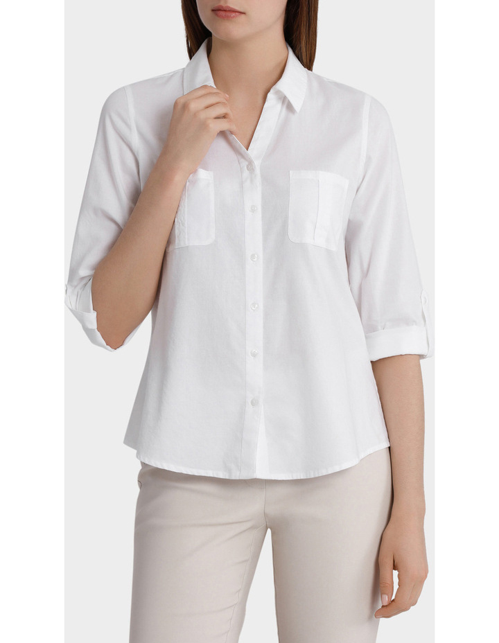 Cotton 3/4 Sleeve Shirt image 1