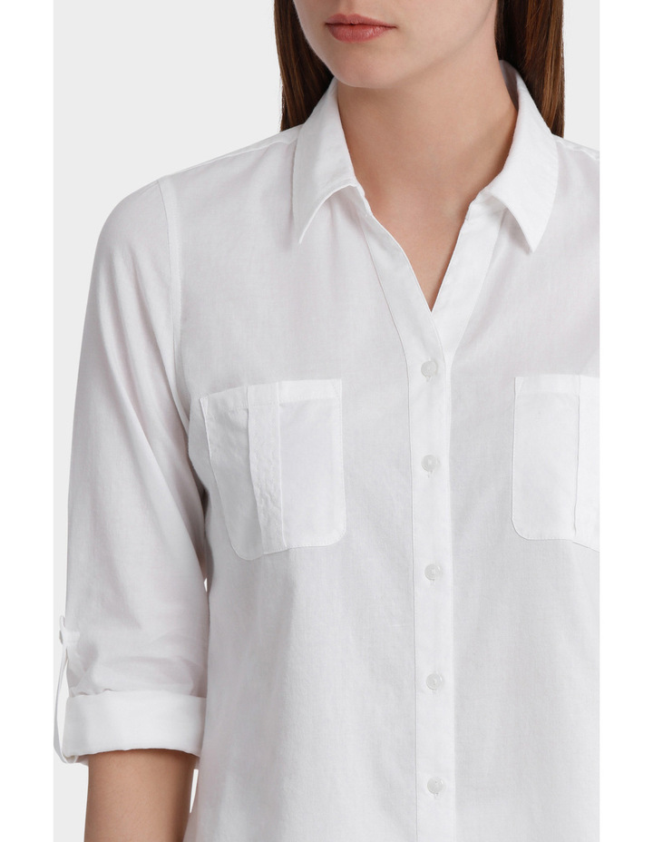 Cotton 3/4 Sleeve Shirt image 4