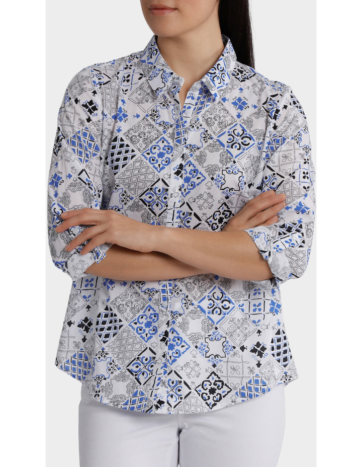 Must Have Printed Cotton 3/4 Sleeveless Shirt image 1