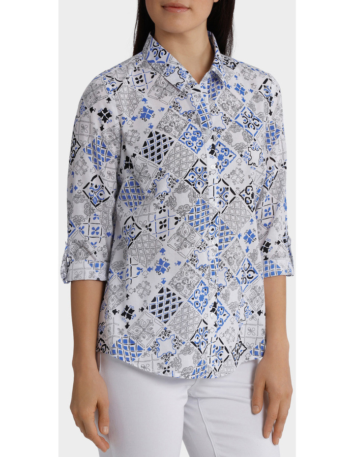 Must Have Printed Cotton 3/4 Sleeveless Shirt image 2