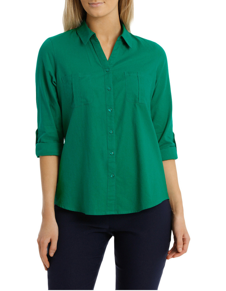 Must Have Cotton 3/4 Sleeve Shirt image 1