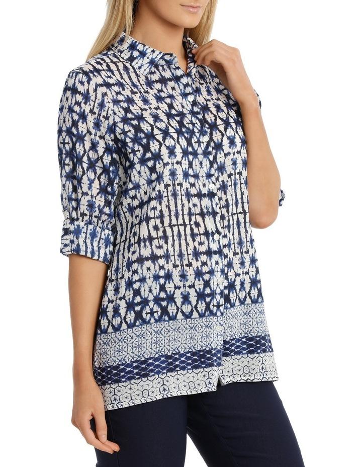 Shibori Silk Cotton 3/4 SleeveShirt image 2