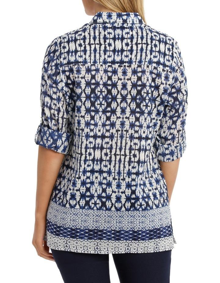 Shibori Silk Cotton 3/4 SleeveShirt image 3