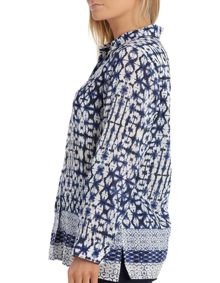 Shibori Silk Cotton 3/4 SleeveShirt image 4