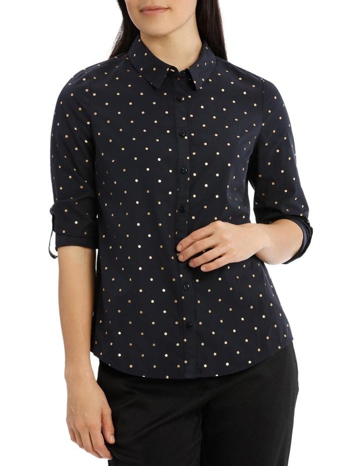 Must Have Cotton Shirt - Sailor Blue/Gold Foil Spot image 1