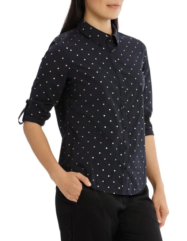 Must Have Cotton Shirt - Sailor Blue/Gold Foil Spot image 2