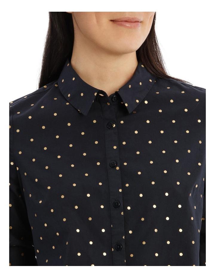 Must Have Cotton Shirt - Sailor Blue/Gold Foil Spot image 4
