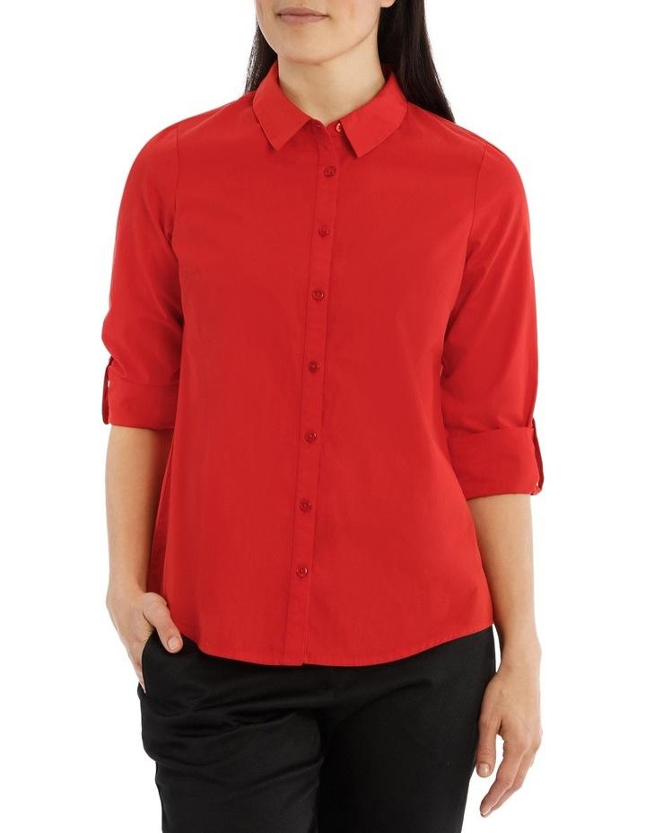 Must Have Cotton Shirt- Burnt Orange image 1