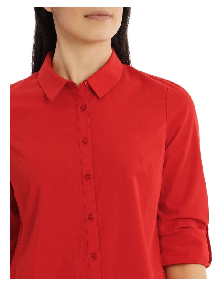 Must Have Cotton Shirt- Burnt Orange image 4