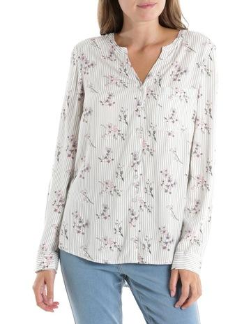 bab7463bab RegattaManderin Collar Shirt-Stripe Floral-Ecru Khaki Pink. Regatta  Manderin Collar Shirt-Stripe Floral-Ecru Khaki Pink