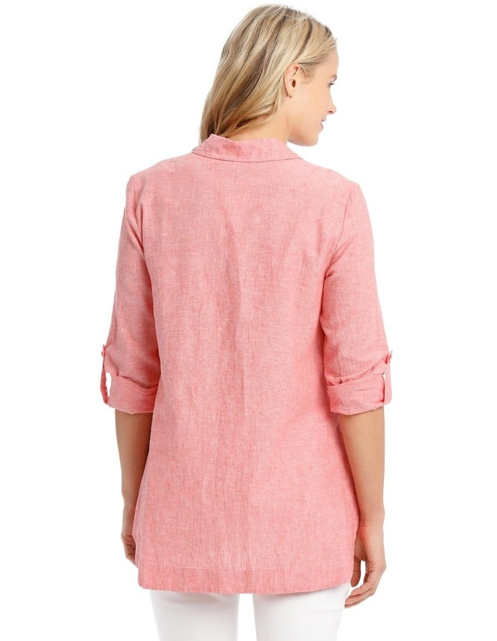 Long-Sleeve Cross-Dye Shirt with Half Placket image 3