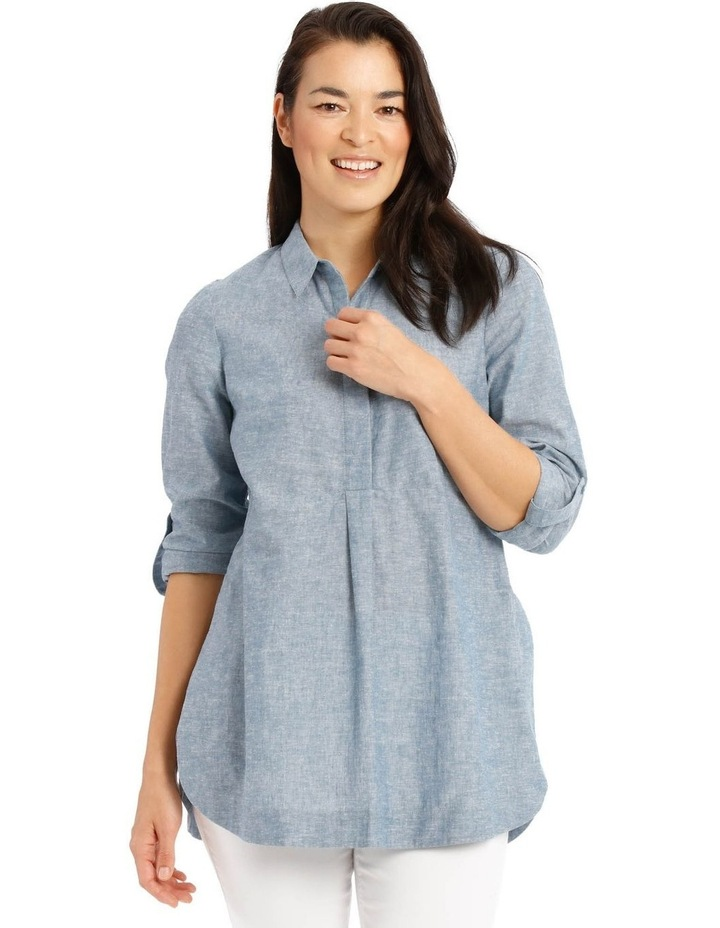 Long Sleeve Shirt With 1/2 Placket image 1