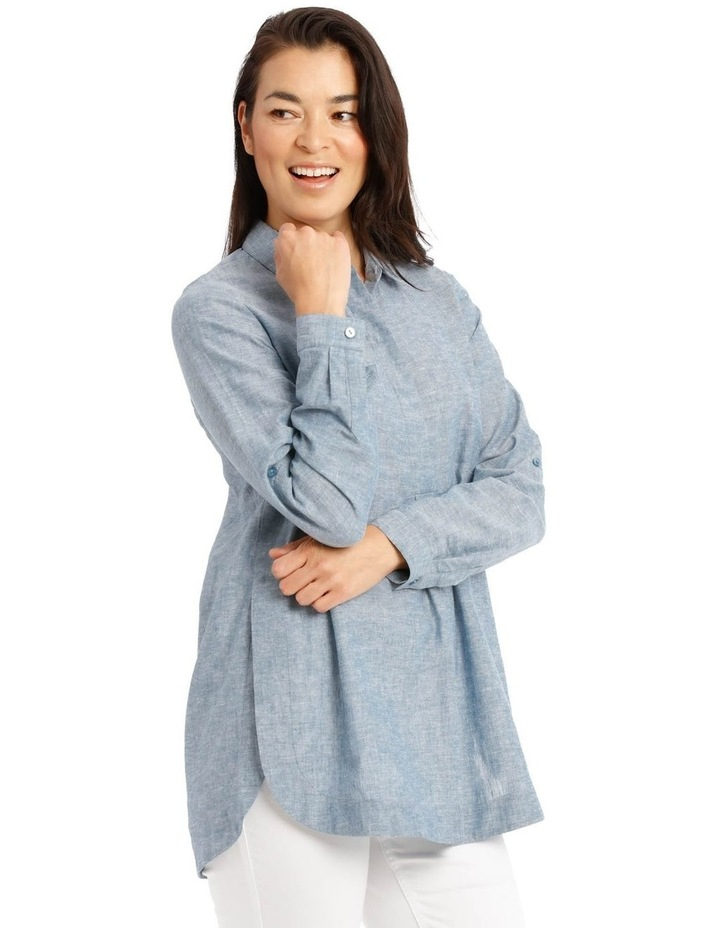 Long Sleeve Shirt With 1/2 Placket image 2